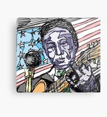 Lead Belly-Colour Metal Print