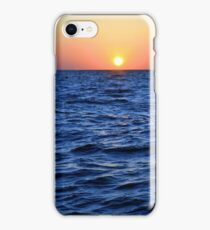 The blue sea at sunset iPhone Case/Skin