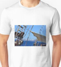 Detail from a vintage sailing wood ship  T-Shirt