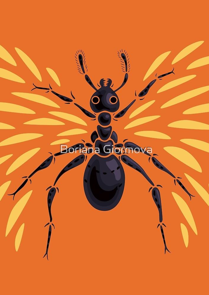 Winged Ant Fiery Orange by Boriana Giormova