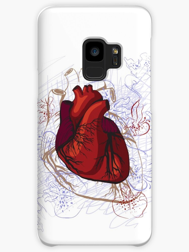 Drawing Of The Heart Anatomical Cases Skins For Samsung Galaxy