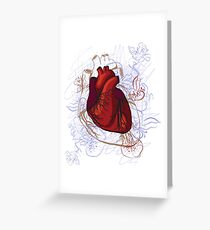 drawing of the heart, anatomical Greeting Card