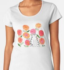 Cat in the flowers Women's Premium T-Shirt