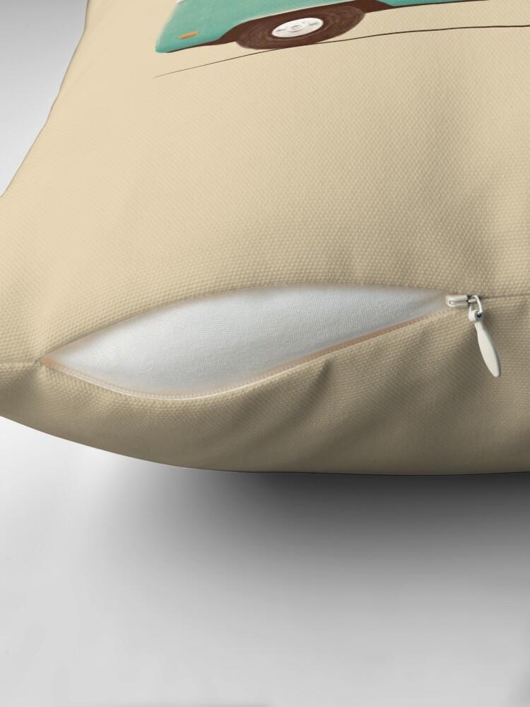 Alternate view of Blue Van Throw Pillow
