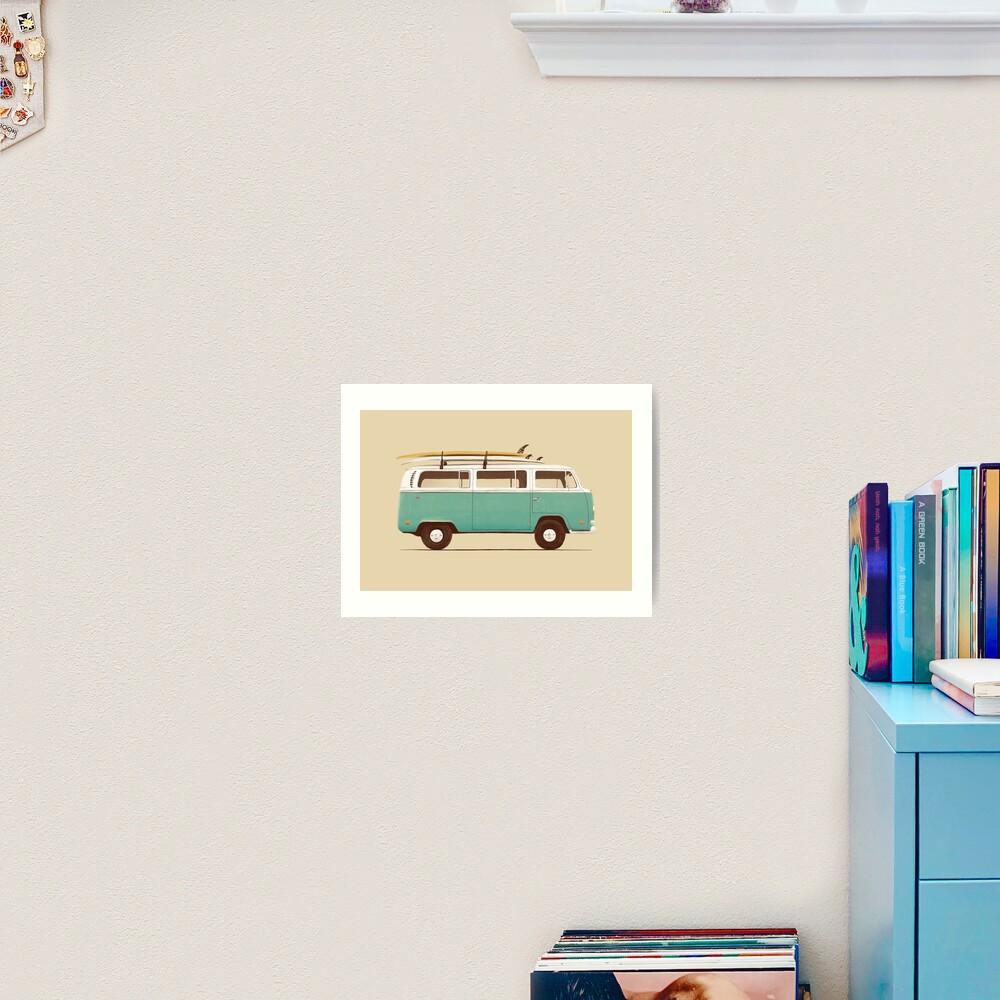 Blue Van Art Print