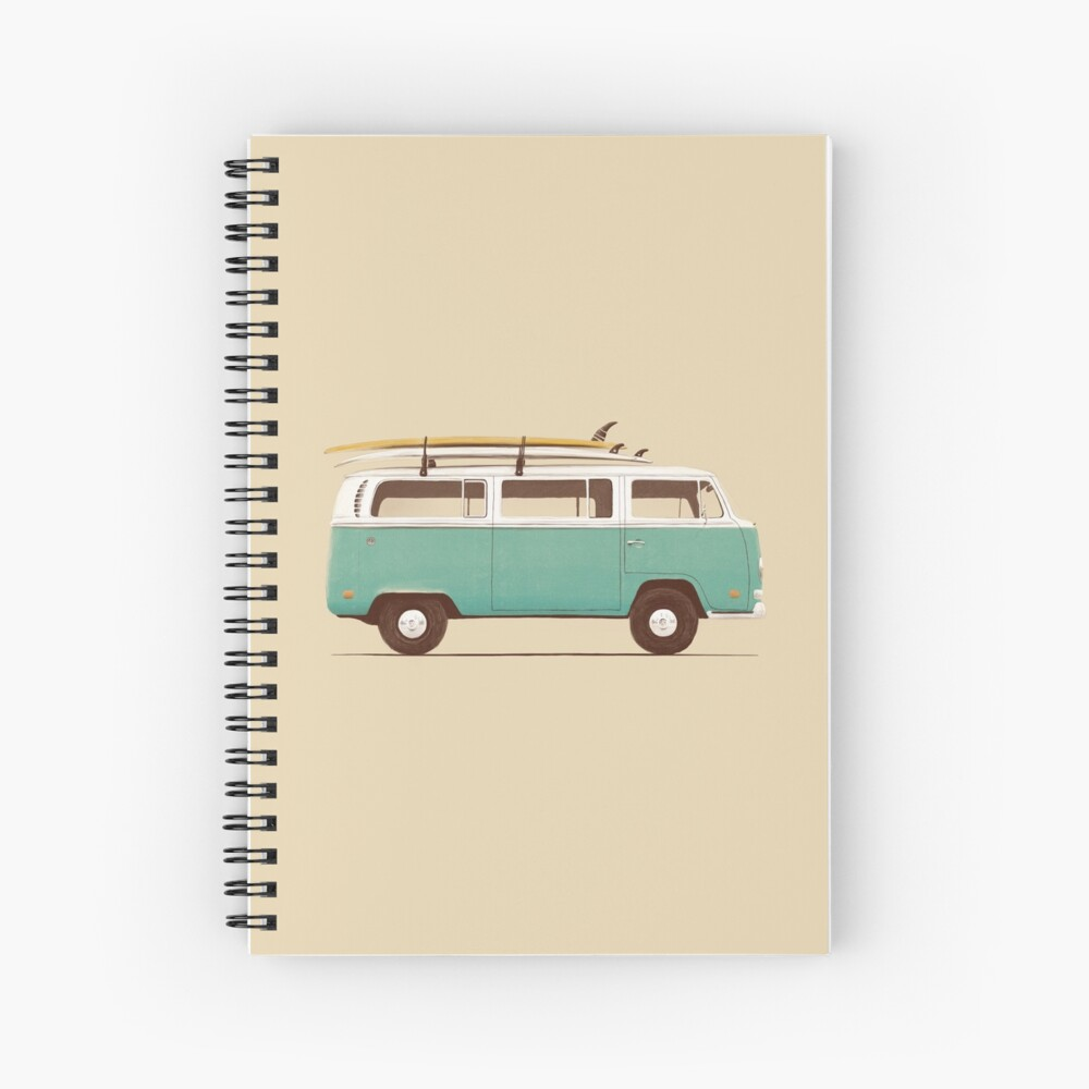 Blue Van Spiral Notebook