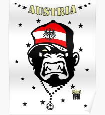 Austria Soccer Poster
