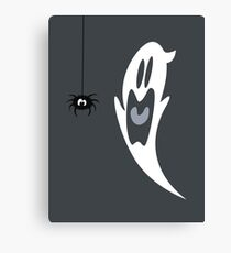 Halloween Wimpy Ghost Canvas Print