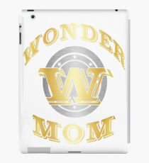 Wonder Mom T Shirt Gift For Super Mother On Mother's Day iPad Case/Skin