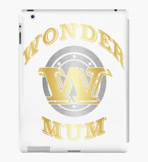 Wonder Mum T Shirt Gift For Super Mother On Mother's Day iPad Case/Skin