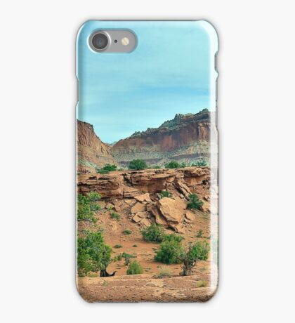 A road into the desert.... iPhone Case/Skin