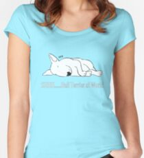"""SHHH..... Bull Terrier at Work!"" Women's Fitted Scoop T-Shirt"