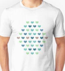Colourful Cute Hearts V T-Shirt