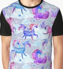 Unicorns in Clouds Graphic T-Shirt