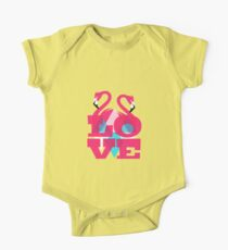 Pink Flamingos in Love Kids Clothes
