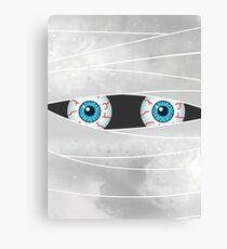 Halloween Mummy Eyes Canvas Print