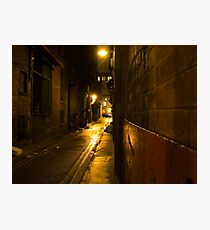 Gloomy Dark Alleyway at Night Photographic Print