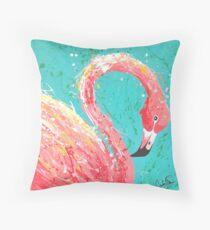 Flaunting Flamingo Throw Pillow