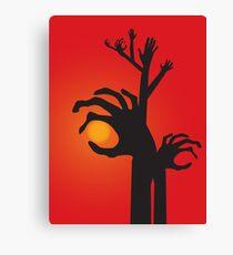 Halloween Raising Ghost Hands Canvas Print