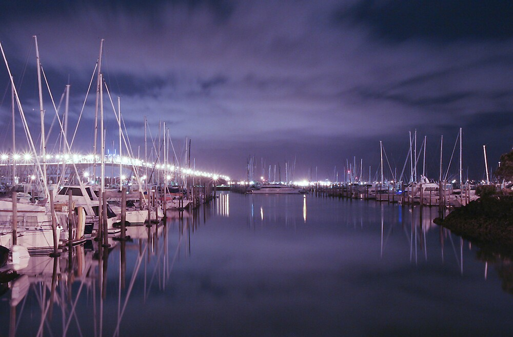 Westhaven Marina @ Night by Chris Gin