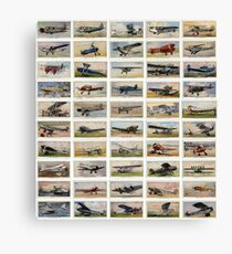 Luxury and personal airplanes from 1930s. Collection of 50  Canvas Print