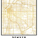 DENVER COLORADO CITY STREET MAP ART by deificusArt
