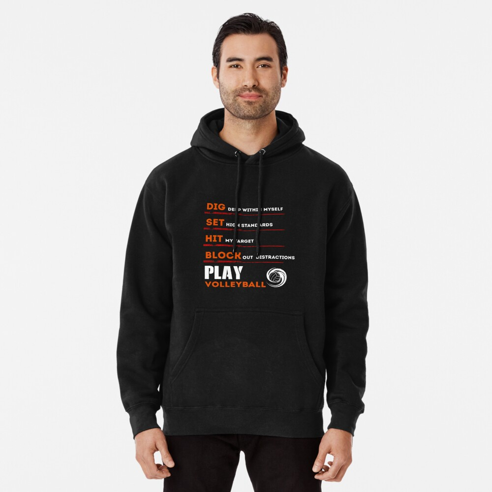 Volleyball Shirt For Men Funny Birthday Gifts Player Pullover Hoodie