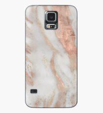 Civezza - roségoldener Marmor Hülle & Klebefolie für Samsung Galaxy