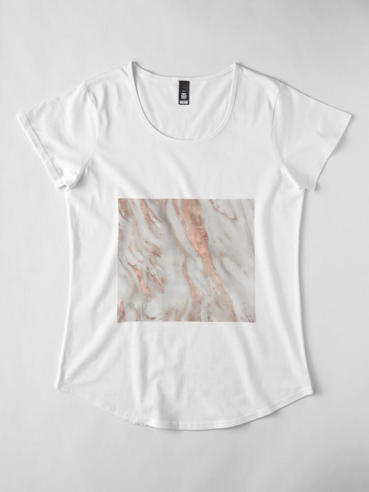 Alternate view of Civezza - rose gold marble Premium Scoop T-Shirt