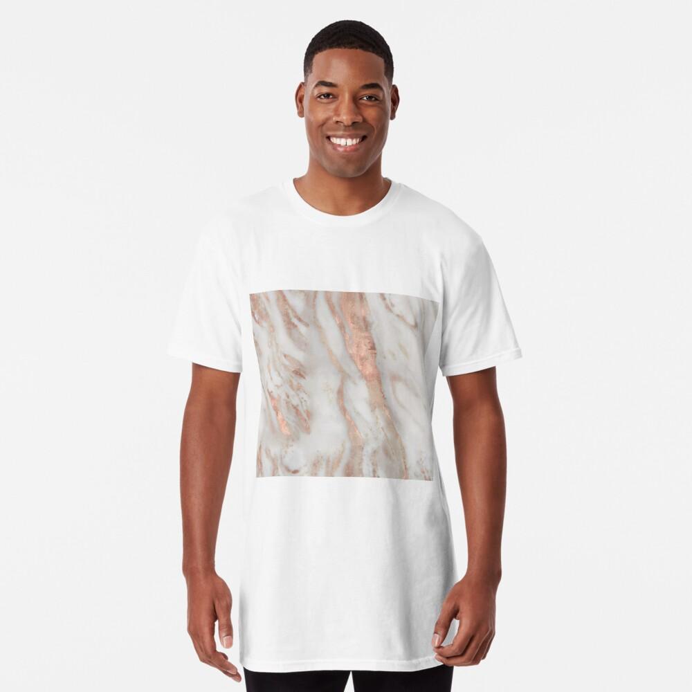 Civezza - rose gold marble Long T-Shirt