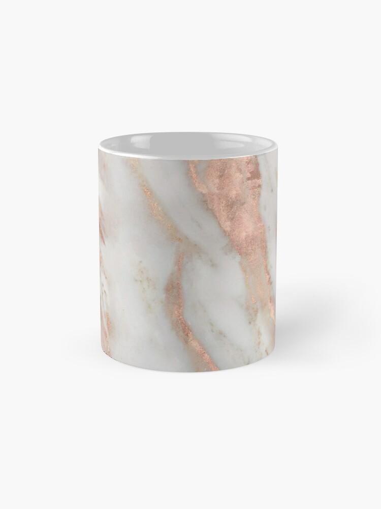 Alternate view of Civezza - rose gold marble Mug