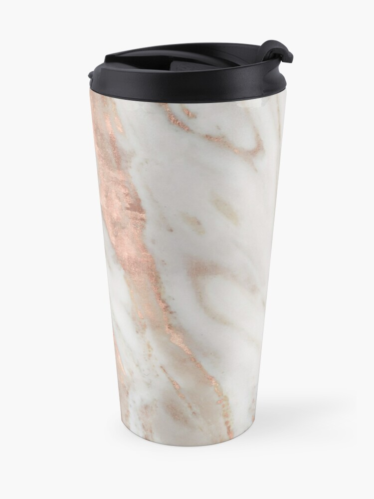 Alternate view of Civezza - rose gold marble Travel Mug