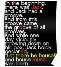 Jack's Groove - Let there be house! Poster
