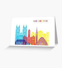 Washington DC skyline pop Greeting Card