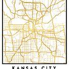 KANSAS CITY MISSOURI CITY STREET MAP ART by deificusArt