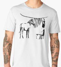 Banksy Zebra Men's Premium T-Shirt