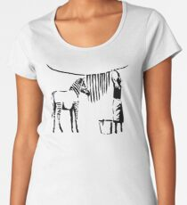Banksy Zebra Women's Premium T-Shirt
