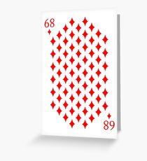 68 Diamonds Playing Card Magic! Greeting Card