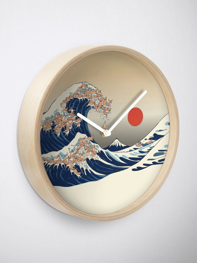Alternate view of The Great Wave of Chihuahua Clock