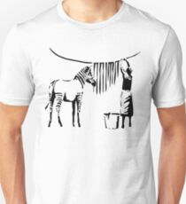 Banksy Zebra Slim Fit T-Shirt