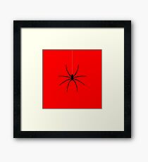 Black Spider Hanging Framed Print