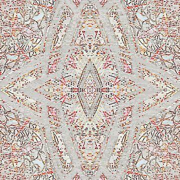 Tiled Portrait - Supernova - Red by Jardougman