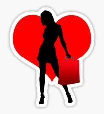 Love to Shop Sticker