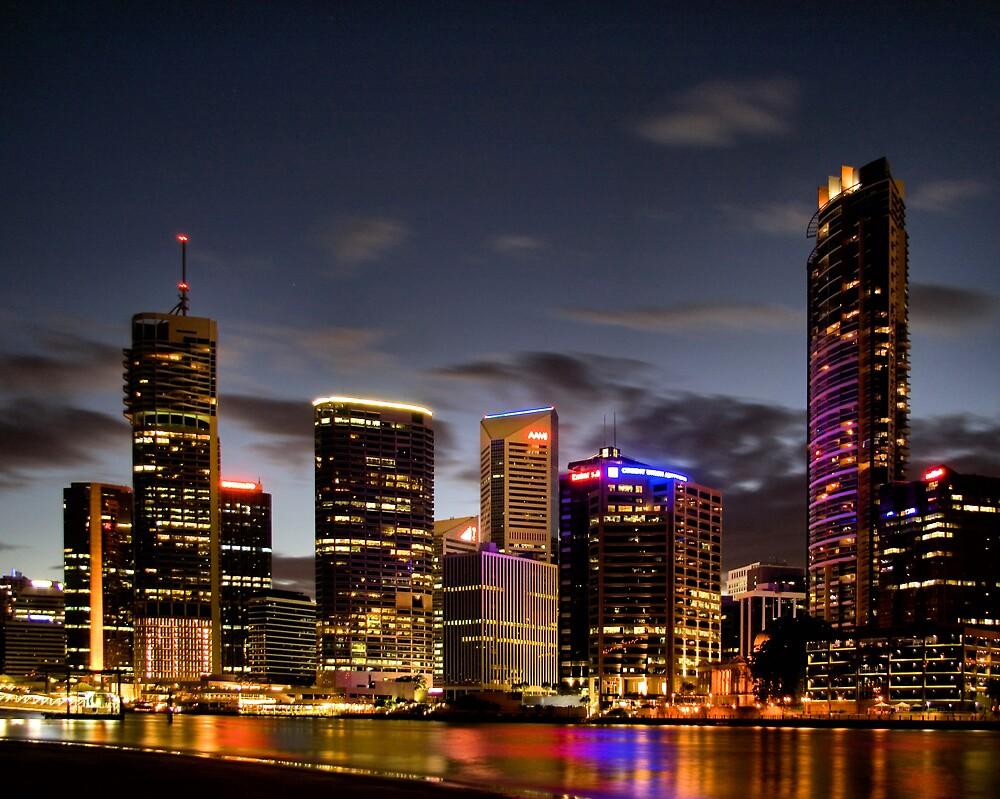 Brisbane By Night by Andrew Cumberland