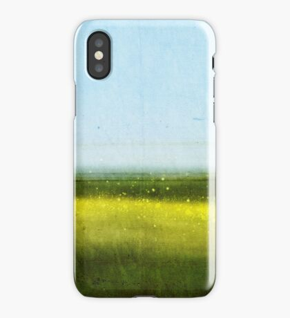 Abstract Landscape No 1: Rapeseed field iPhone Case