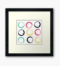 Water color Polka Framed Print