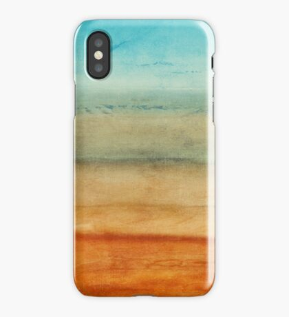 Abstract Seascape No 4: sandy beach iPhone Case