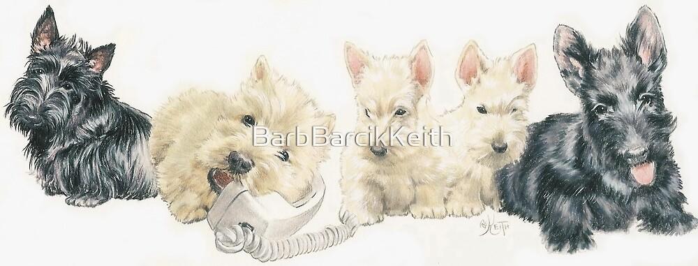 Scottish Terrier Puppies by BarbBarcikKeith