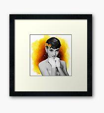 Audrey Hepburn ( Young Blood ) Framed Print