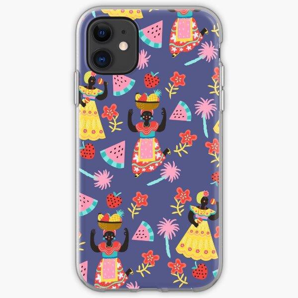 Cuban Dancing Girls Pattern iPhone Soft Case
